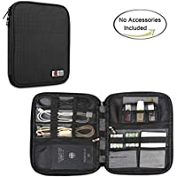 BUBM Travel Organizer for Electronics Accessories(New Version),Black