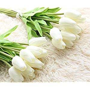 XHSP 30 pcs Real-touch Artificial Tulip Flowers Home Wedding Party Decor 4