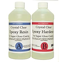 EPOXY RESIN CRYSTAL CLEAR 32 oz Kit. FOR SUPER GLOSS COATING AND TABLETOPS