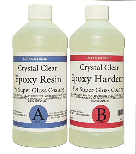 - EPOXY RESIN CRYSTAL CLEAR 32 oz Kit. FOR SUPER GLOSS COATING AND TABLETOPS