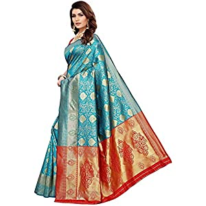 HANSA CLIPS Ram Green Color Designer Women's Art Silk Saree With Blouse