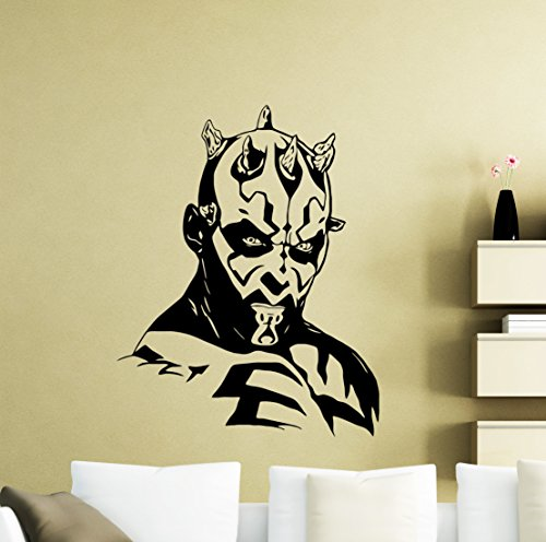 Star Wars Wall Decals Darth Maul Poster Vinyl Sticker Home Teen Star Wars Characters Devil Sith Lord Kids Room Nursery Art Decor Stencil Mural -