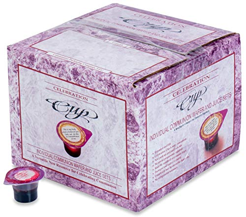 Celebration Cup 100 Prefilled Communion Cups with Juice and Wafer -