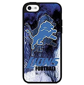 Blue, Black and White Detroit Lions Football Sports Hard Snap on Phone Case (iPhone 5c)