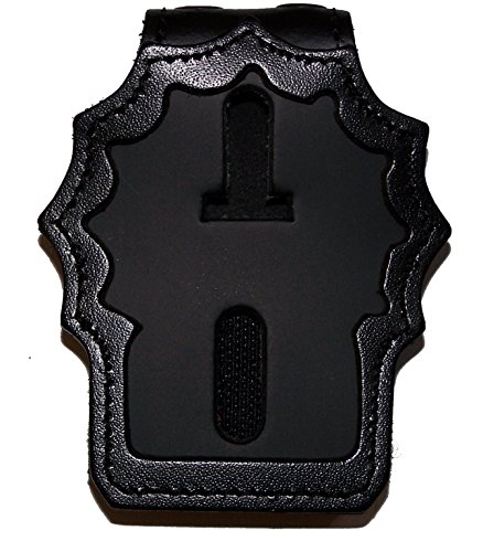 (Perfect Fit Belt Clip Badge Holder with Pocket and Chain for NY City Police Detective (Cutout PF225))