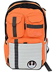 Rebels Alliance Icon Boba Fett Laptop Backpack Star Wars Element Bag Travel Bag with a Luggage Tag