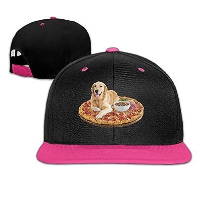 Rock Punk Trucker Hats Funny Dog Pizza Unisex Baseball Cap Hip-hop Snapback Pink