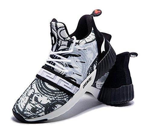 Zapatillas Sintético Running Competición de Blanco Negro Adultos Material de de Unisex ONEMIX dqx70Zd