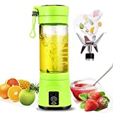 Electric Juicer Cup Portable Mini Self Blending Juicer Cup Blender Machine 380ml with USB Charger Personal Size Rechargeable Juice Blender and Mixer