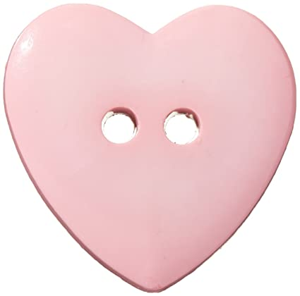 Slimline Buttons Series Funtastics -Pink Heart 2-Hole 1