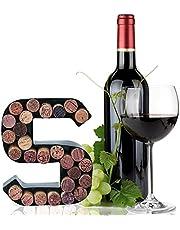 Metal Letter Wine Cork Keepsake Saver & Holder Monogram w/Free Wall Mount Kit A-Z