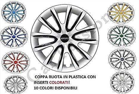 Kit de 4 tapacubos para ruedas universales de Fiat 500 Punto, Panda y Bravo,