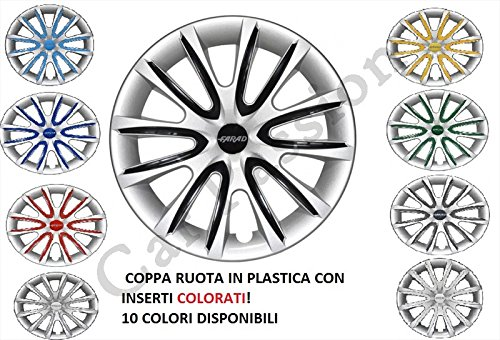 Kit de 4 tapacubos para ruedas universales de Fiat 500 Punto, Panda y Bravo, diámetros de 14