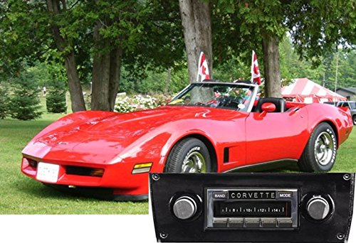 1981 1982 Corvette (Custom Autosound USA-630 II compatible with 1977-1982 Chevrolet Corvette, High Power 300 watt AM FM Car Stereo/Radio)
