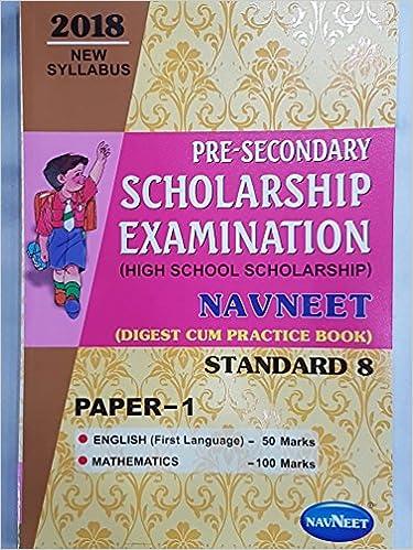 Buy Navneet 8th High School Scholarship Paper 1 English And