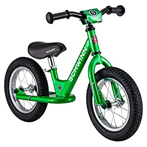 Schwinn Kid's Balance Bike, Green, 12-Inch