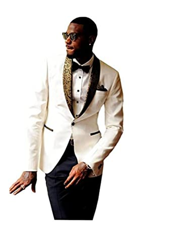Botong Slim Fit Mens Suits Notch Lapel Wedding Suits Groom Tuxedos ...