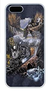 Silver Belle Run Train PC Case Cover for iPhone 5 and iPhone 5s White