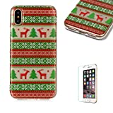 For iPhone XS Max Case [with Free Screen Protector],Funyee Creative Christmas Series Ultra Thin Transparent Soft TPU Silicone Case Anti Scratch Durable Shell Smart Case For iPhone XS Max,Tribe Elk