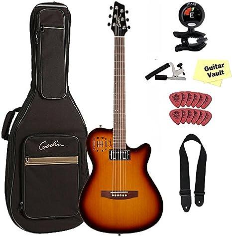 Godin A6 paquete de Ultra – Guitarra electroacústica (con funda ...