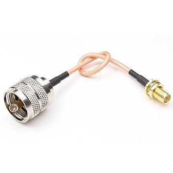 anhan 15 cm 6 pulgadas SMA hembra a UHF PL-259 Macho RF Coaxial Cable