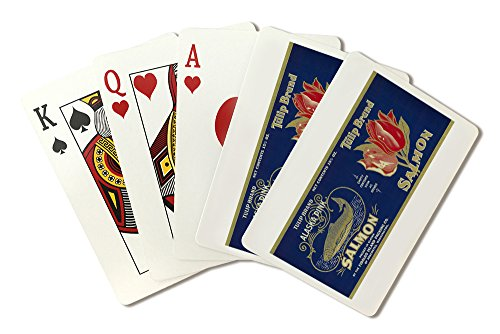Tulip Salmon Can Label (Playing Card Deck - 52 Card Poker Size with ()