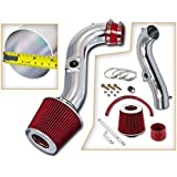 Rtunes Racing Short Ram Air Intake Kit with Filter Filter Combo RED For 98-02 Toyota Corolla
