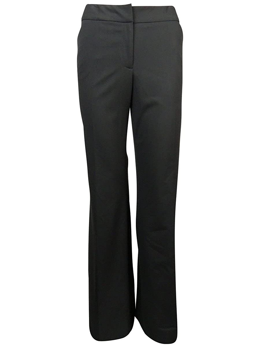 Tahari ASL Womens Julia Solid Flat Front Dress Pants