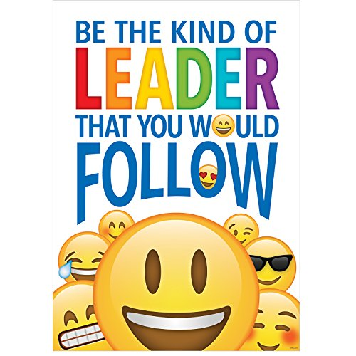 Character Education Poster (Creative Teaching Press Be The Kind of Leader… Emoji Fun Inspire U Poster,  (8098))