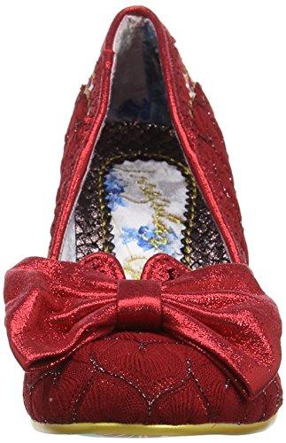 B Always Cerrada Smile Con Irregular Mujer Punta Rojo Tacón De red Zapatos Choice RS17pqT