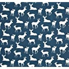 Changing Pad Cover in Navy Deer, Buck Silhouettes