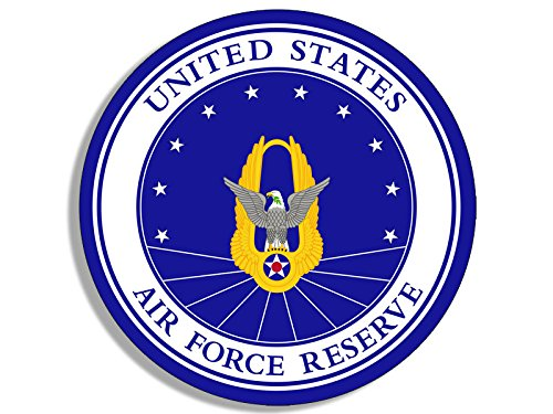 - American Vinyl Round Air Force Reserve Seal Sticker (United States USAF Military)