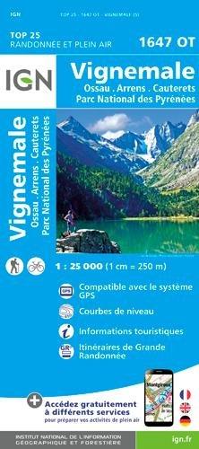 IGN Vignemale/Ossau/Cauterets/Parc National des Pyrénées - Carte topographique
