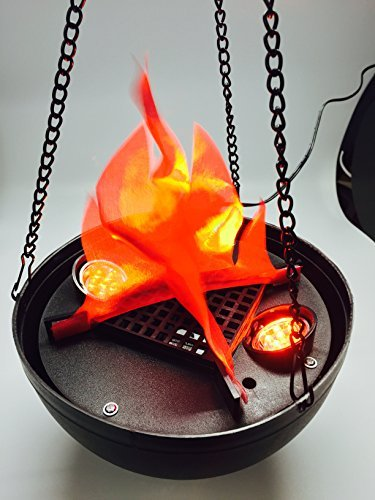 Hanging flame light by Unido Box