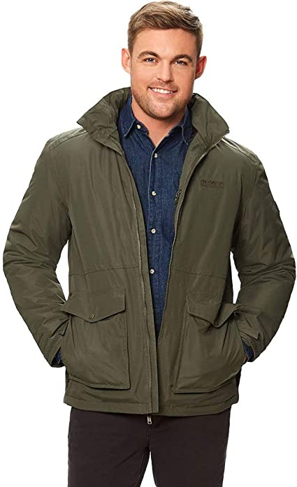 TALLA 4XL. Regatta Hebson Waterproof Insulated Concealed Hooded Jacket - Chaqueta aislante impermeable. Hombre