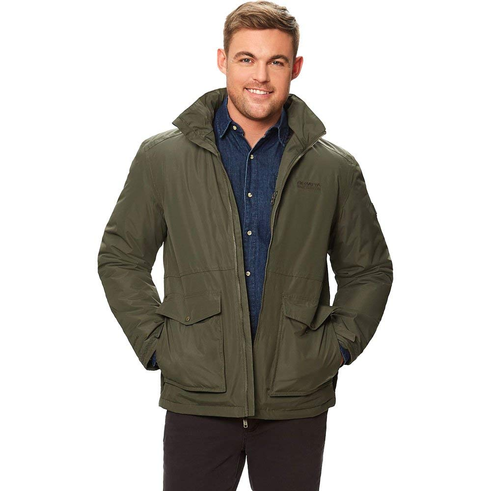 TALLA XXXX-L. Regatta Hebson Waterproof Thermoguard Insulated Hooded Chaqueta, Hombre