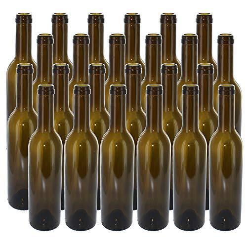 NorthernBrewer B0064OG1WM FBA_5802 375 ml Green Semi-Bordeaux Bottles, 24 per case ()
