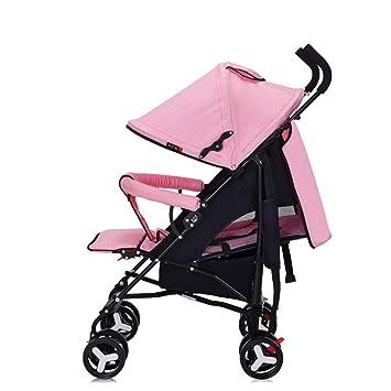 Cochecito Bebé Plegable Silla De Paseo Ligero Carrito NiñO Carricoche,Pink
