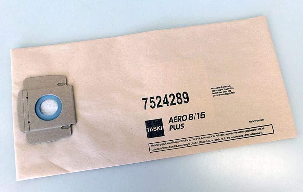 Taski Aero 8/15 Plus Filter Paper Bags, Grey/Orange