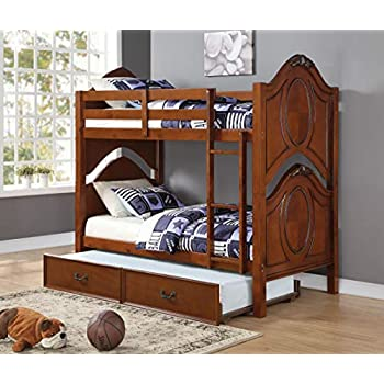 Image of ACME Classique Twin/Twin Bunk Bed - 37005 - Cherry Home and Kitchen