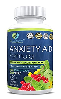 Bio Paramount All Natural Anti-Anxiety , Stress Relief and Mood Enhancer Supplement – Easy and Effective – Magnesium, Ashwagandha, L-theanine, 5-HTP and More – 60 Vegan Capsules