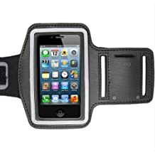BEST- Eshop Black Deluxe Running ArmBand Sports Gym Case Holder For iPhone 5 5S 5C, iPod Touch 5th Generation
