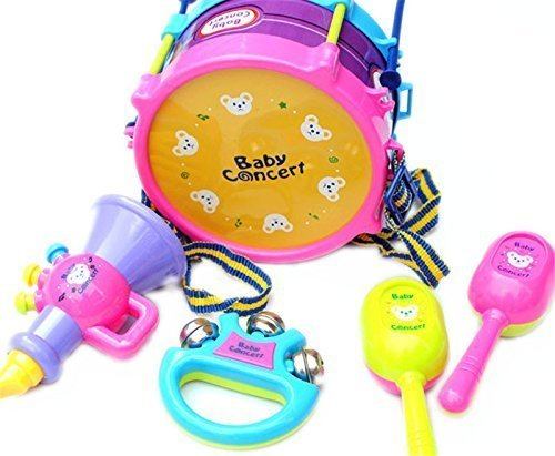 5pcs-kids-baby-roll-drum-musical-instruments-band-kit-children-toy-gift-set