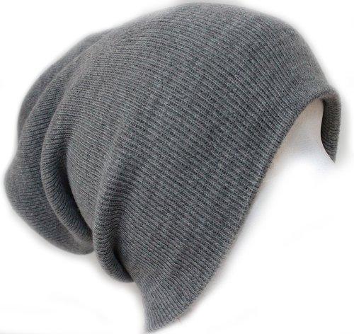 Slouchy Beanie Slouch Skull Hat Ski Hat Snowboard Hat Ribbed Beanie,One Size,Light Grey Snowboard Ski Hat