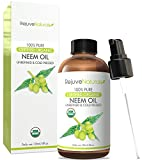 Athletes Foot Home Remedy Organic Neem Oil, 100% Pure, Cold Pressed, USDA Certified Organic by RejuveNaturals, 4oz  For Hair, Skin & Nails  All Natural Anti Aging Moisturizer, Antiseptic, Insecticide & Fungicide