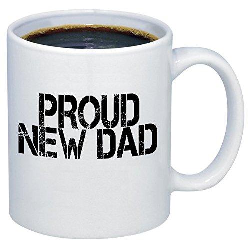 P & B Proud New Dad forギフトセラミックコーヒーマグカップm180 11 oz. ホワイト 11 oz.  B06W56NCDZ