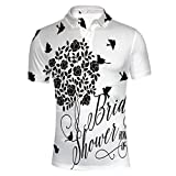 iPrint Design Wedding Bride Dress with Flowers,Baby Polo T-Shirts