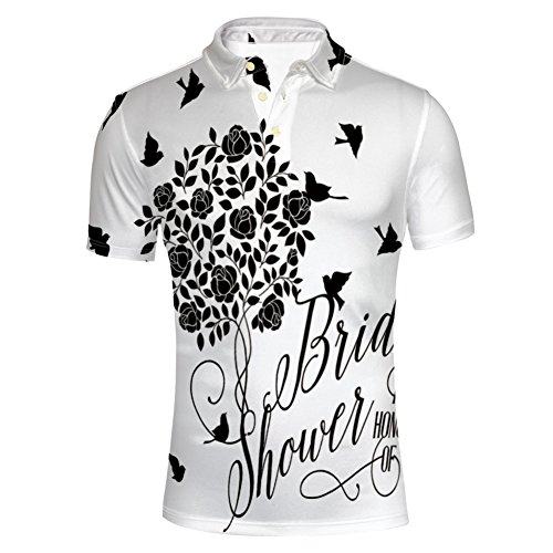iPrint Design Wedding Bride Dress with Flowers,Baby Polo T-Shirts by iPrint