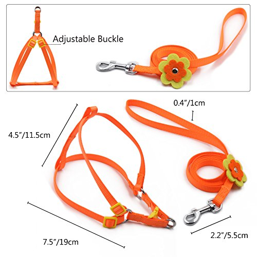 Cute-Dog-Harness-For-Girls-or-Boy-Dseap-Fashion-Beauty-Flower-Clip-Series-Adjustable-Small-Animal-Puppy-Dog-Cat-Leashes-Collars-Lead-Chest-Straps-Chain-Rope-for-Little-PetOrange