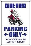 "StickerPirate Dirt Bike Parking Only Dirtbike 8"" x"